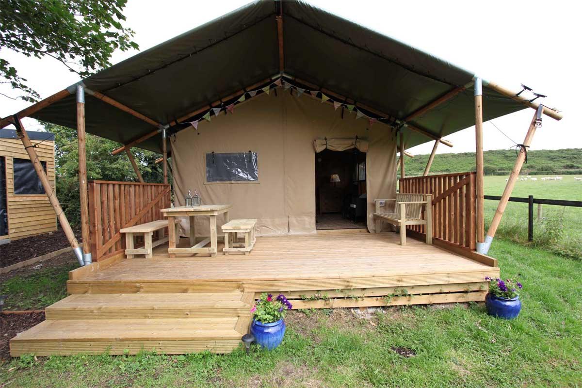 Safari tent Anglesey